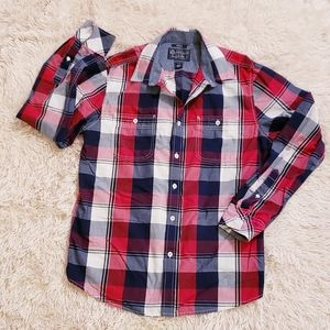 American Rag Plaid Button Front Shirt